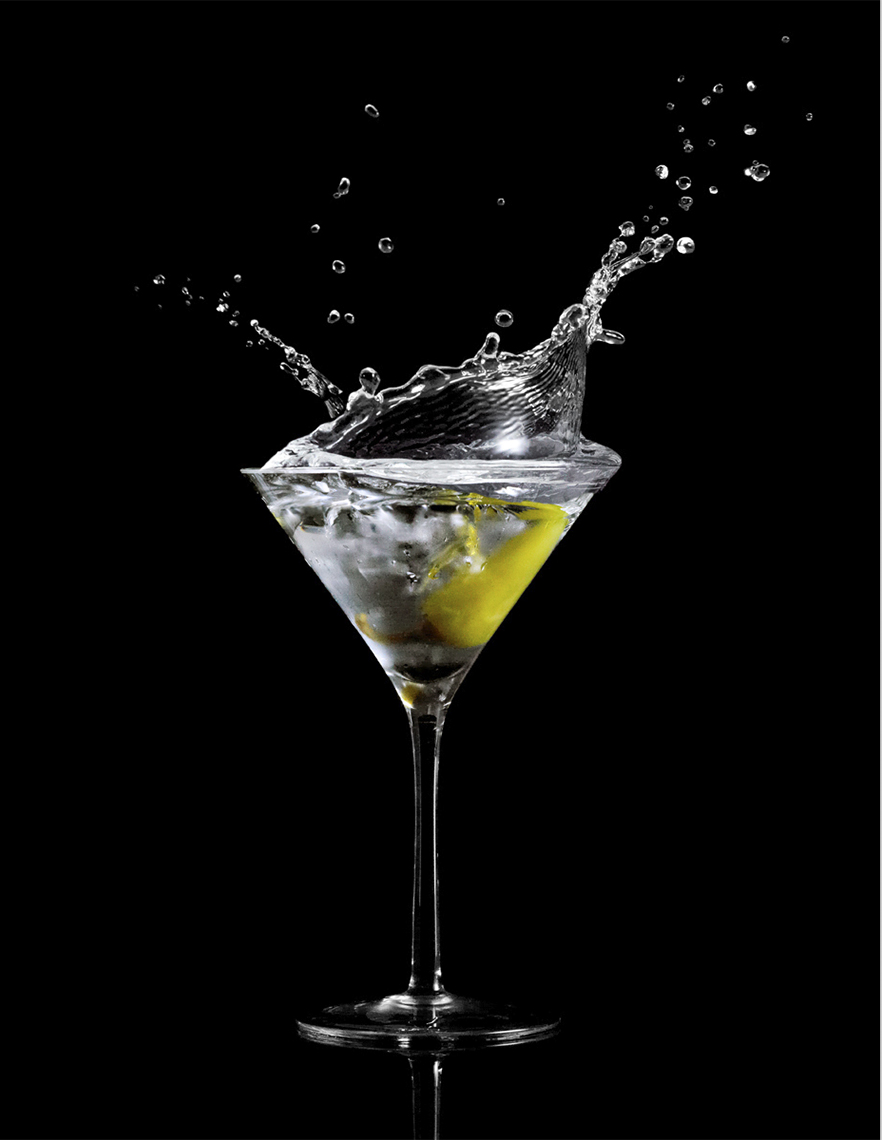 Pepper Martini Splash | Beverage Photographer, Marshall Gordon