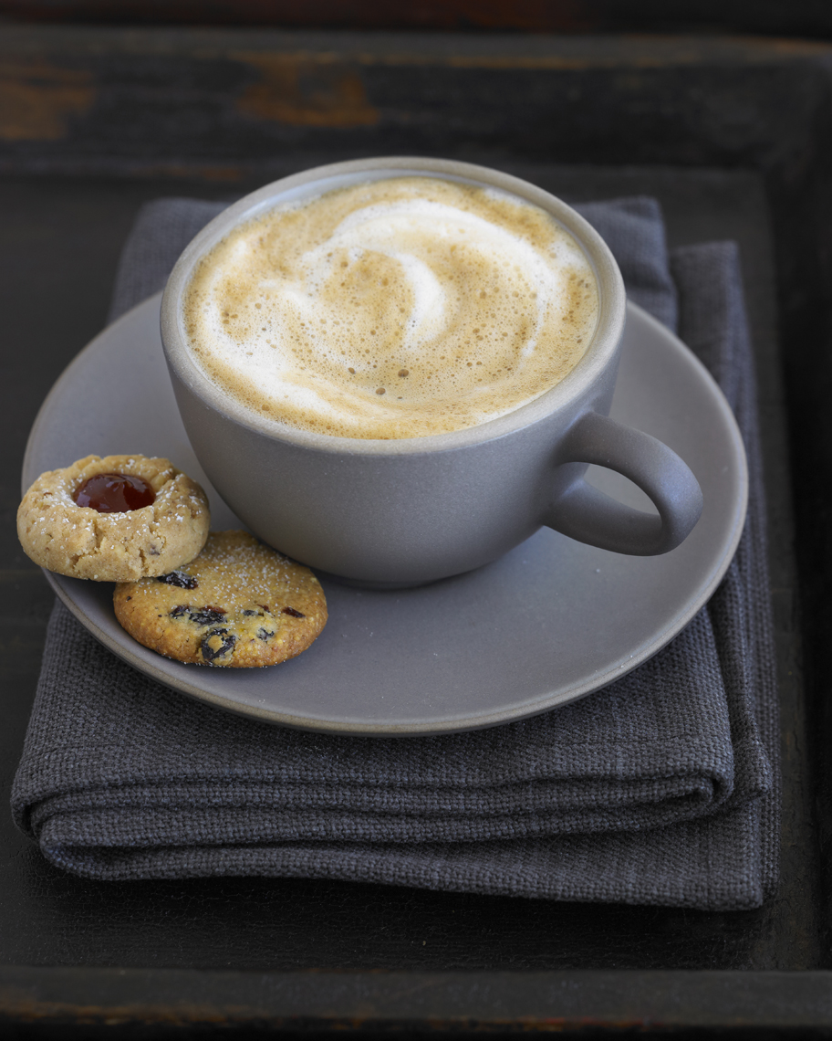 Latte with Cookies | Beverage Photographer, Marshall Gordon